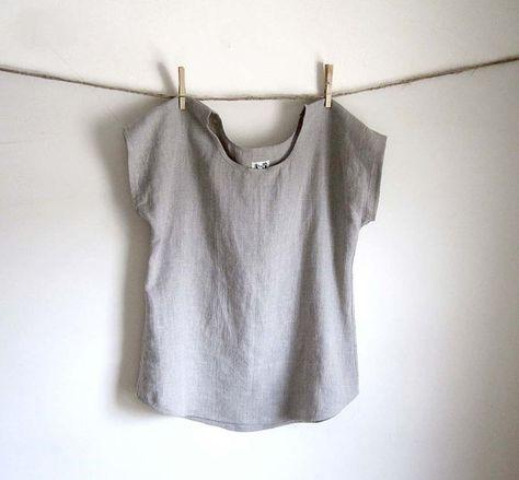 Tunique de lin vêtements de lin lin Blouse par THIMBLEandACORN