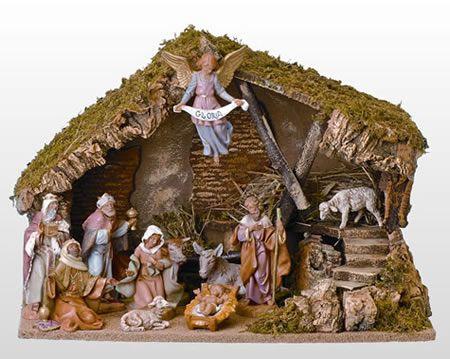 Fontanini 11 Piece Nativity Set With Italian Stable Roman Fontanini All 54490 In 2020 Christmas Nativity Set Fontanini Nativity Nativity Set