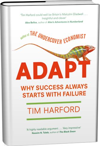 """""""Harford argues that today's challenges simply cannot be tackled with ready-made solutions and expert opinions; the world has become far too unpredictable and profoundly complex. Instead, we must adapt—improvise rather than plan, work from the bottom up rather than the top down, and take baby steps rather than great leaps forward.""""  The author Tim Harford will participate in the IFAD #failfaire: http://www.ifad.org/events/failfaire/index.htm"""