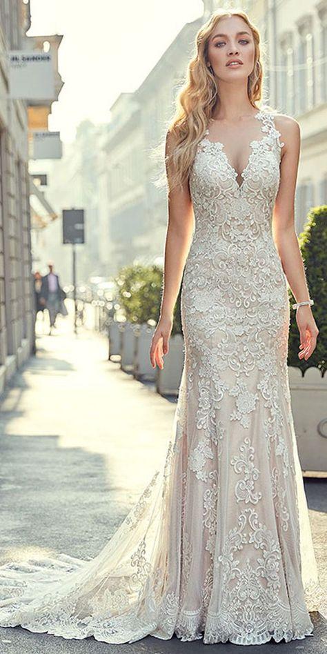 Romantic Tulle Jewel Neckline Natural Waistline Mermaid Wedding Dress With Lace Appliques