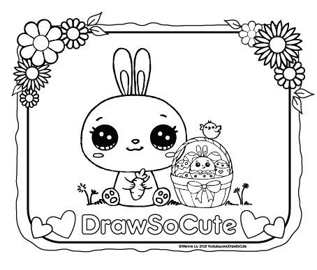 Draw So Cute Food Colouring Pages
