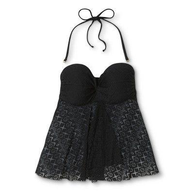 09adf68172 Women's Flyaway Tankini Top Crochet - Black - L - Merona   Products ...