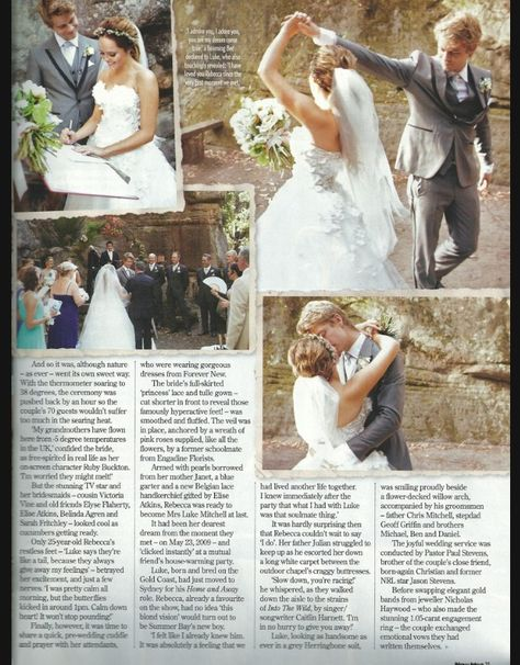 Pin By Monique Boothby On Rebecca Breeds And Luke Mitchells Wedding