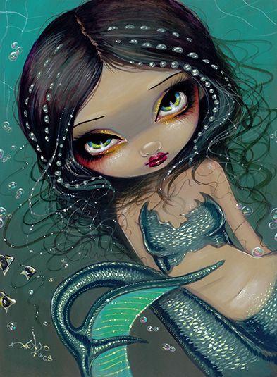 Dream Koi Mermaid gothic fairy fish art Jasmine Becket-Griffith CANVAS PRINT