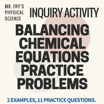 Balancing Chemical Equations Problems Equations Chemical