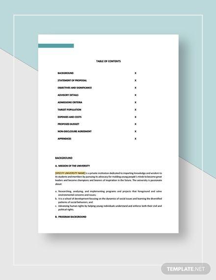 Education Program Proposal Template Free Pdf Word Doc Apple Mac Pages Google Docs Free Proposal Template Proposal Templates Proposal