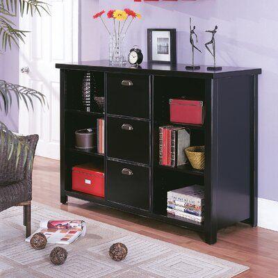 Winston Porter Armina Standard Bookcase Finish Black Martin Furniture Bookcase Furniture