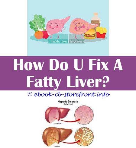 diet for enlarged spleen and fatty liver