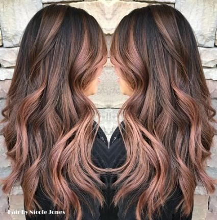 Hair Highlights Rose Gold Balayage 55+ Ideas For 2019