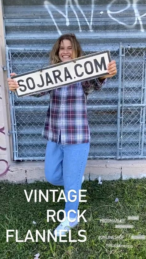 Vintage band tees, rock flannels and military jackets.