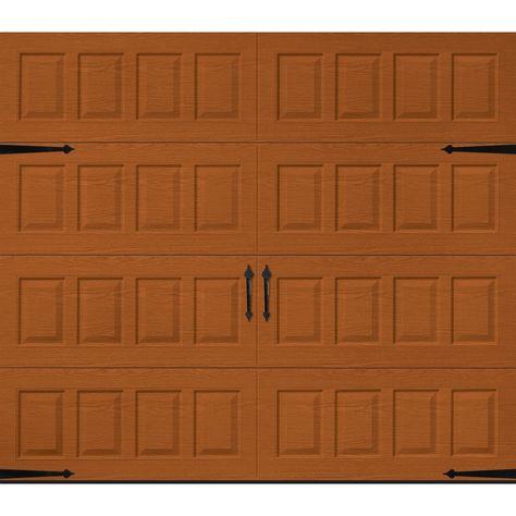 Pella Carriage House 108 In X 84 In Insulated Golden Oak Single Garage Door Lowes Com In 2020 Garage Doors Single Garage Door Oak Garage Doors