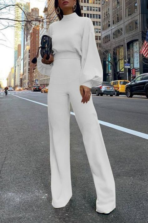 Solid Color High-Collar Backless Jumpsuit We're glad you've c. - Solid Color High-Collar Backless Jumpsuit We're glad you've clicked on our n -