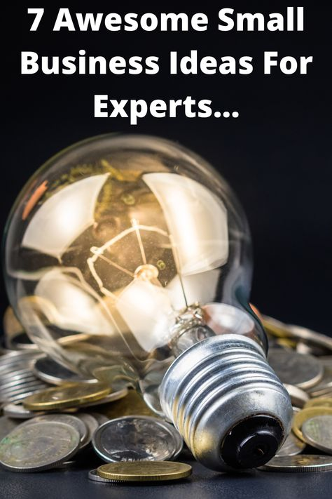 7 Awesome Small Business Ideas For Experts