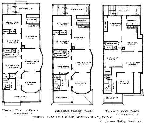 Floor Plans Of The Century Apartment House For Bachelors New York City