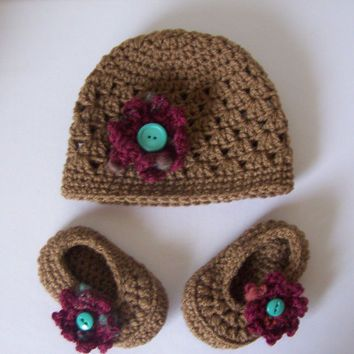 1f9d6454ab1 Best Crochet Baby Hat And Booties Products on Wanelo