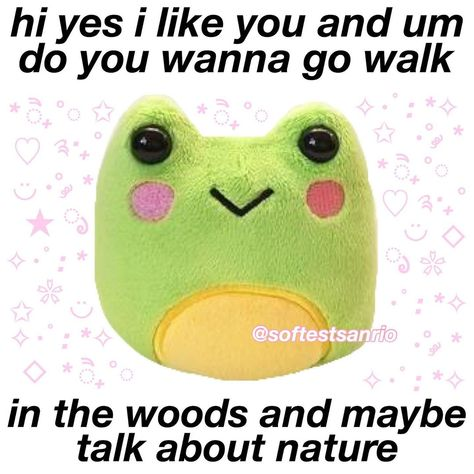 possible text that says hi yes i like you and um do you wanna go You can find Softies and more on our website.possible text that says hi yes i like yo. Baby Memes, Dankest Memes, Funny Memes, Sanrio, Softies, Flirty Memes, Response Memes, Snapchat Stickers, Cute Love Memes