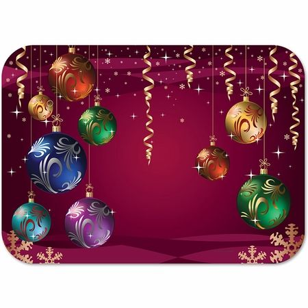 Season To Celebrate Traymats 1000 Ct Placemats Kids Paper Decorations Christmas Bulbs