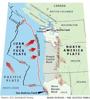 California Fault Line Earthquake Prediction Oregon Pinterest - West coast fault lines