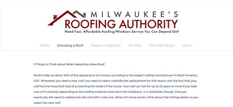 Check Out This Exclusive Review Of Milwaukee Roofing Contractors And Learn  About The Advantages And Dis Advantages Of These Types Of Services    Reu2026