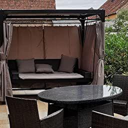 Home Deluxe Sonnenliege Pavillon Provence Amazon De Elektronik In 2021 Pavillon Sonnenliege Rattanbett