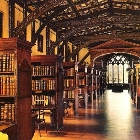 Hogwarts Library (Duke Humphrey's Library, Oxford University)