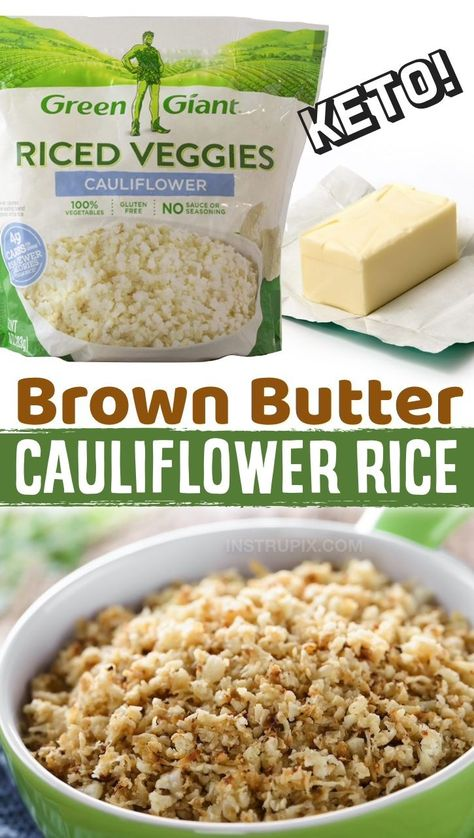 Keto, low carb and healthy! Frozen cauliflower rice makes for the most amazing veggie side dish recipes as well as casseroles and other meals. This healthy white veggie is practically flavorless, so you can cook it and flavor it just like you would rice. Frozen cauliflower rice is a breeze to cook with very little prep or clean up, and it's just as good as fresh cauliflower. It makes for the easiest weeknight meals! Even my kids love it, especially mixed with cheese and garlic.