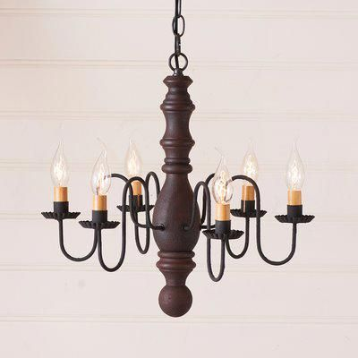Gracie Oaks Whiteley Wood 6 Light Chandelier Finish With Images