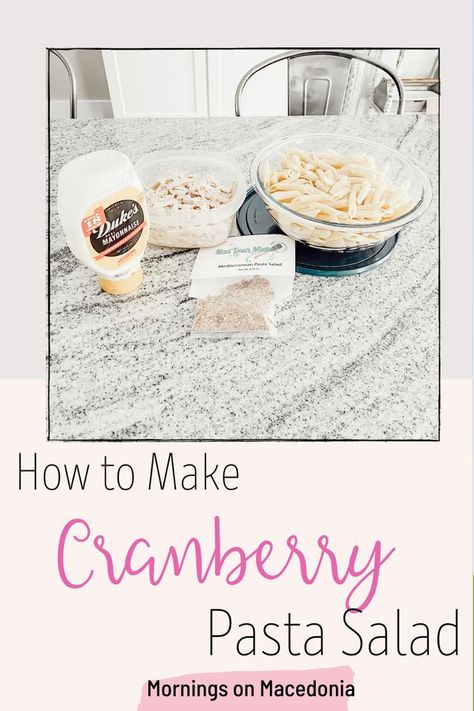 Try out this easy and delicious recipe for Cranberry Pasta Salad. Such a light and refreshing meal for anytime of the year! #easyrecipe #easydinner #easydinnerrecipes #easydinnerideas #simpledinnerrecipes #cranberry #cranberries #pasta #pastafoodrecipes #pastarecipe #pastadishes #pastasaladrecipes #pastadinner