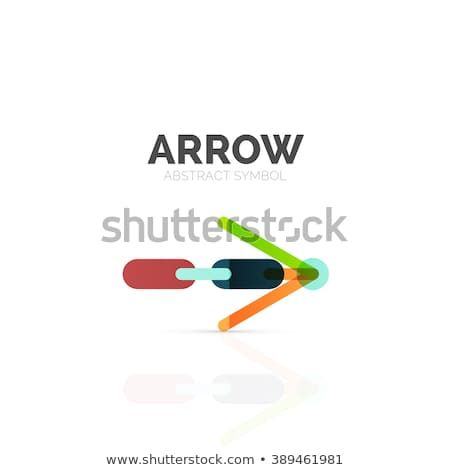 Linear Arrow Abstract Logo Connected Multicolored Segments Of