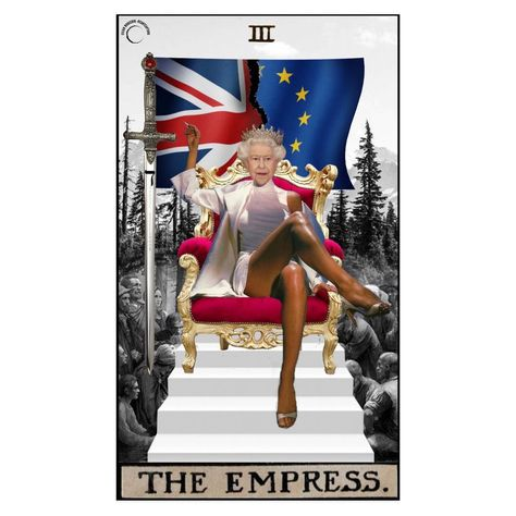 "lilian • art • design on Instagram: ""the empress. 👸🏼 . #godsavethefuture #godsavethequeen #basicinstinct #tarotcollage #digitalcollage #majorarcana #collage_tarot #theempress…"""