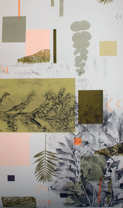 Abstracted Woodland 2 by Natalie Ratcliffe - gum arabic and silk screen print