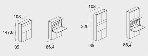 Home Office - Il PC e tutto il tuo ufficio in un armadio attrezzato - Clei
