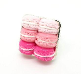 Pink Ombre Macarons Ring