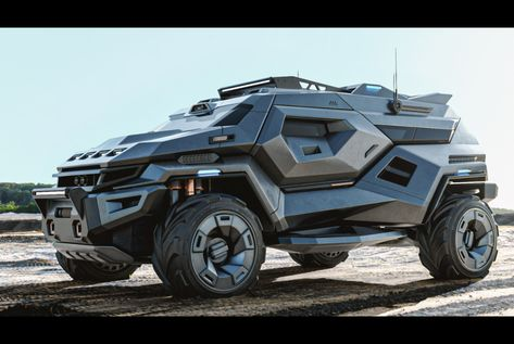 Designer Milen Ivanov's body of work includes designs for companies like Dreamworks, Croatian hypercar maker Rimac, and luxury aftermarket specialist Vilner. His Armortruck concept is. Luxury Sports Cars, Cool Sports Cars, Best Luxury Cars, Sport Cars, Exotic Sports Cars, Exotic Cars, Auto Jeep, Jeep Cars, Jeep 4x4