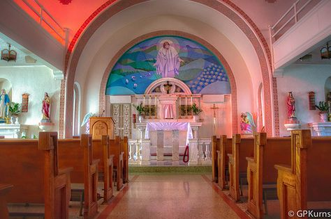 Image result for inside of St. Elizabeth catholic church eureka springs arkansas