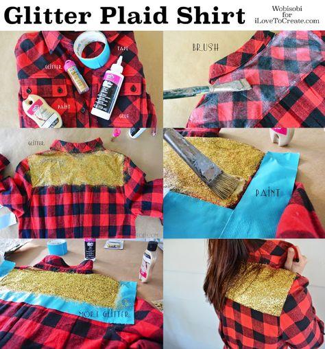 Glitter Plaid Shirt by @wobisobi