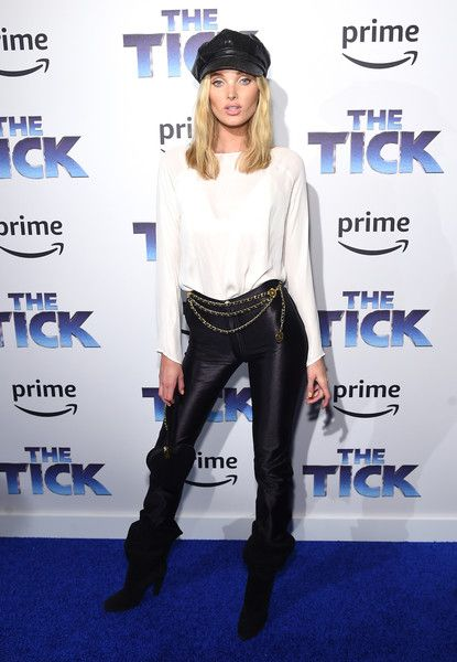 Elsa Hosk attends 'The Tick' Blue Carpet Premiere.