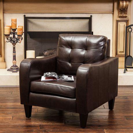 Peachy Noble House Sasha Leather Club Chair Brown In 2019 Club Machost Co Dining Chair Design Ideas Machostcouk