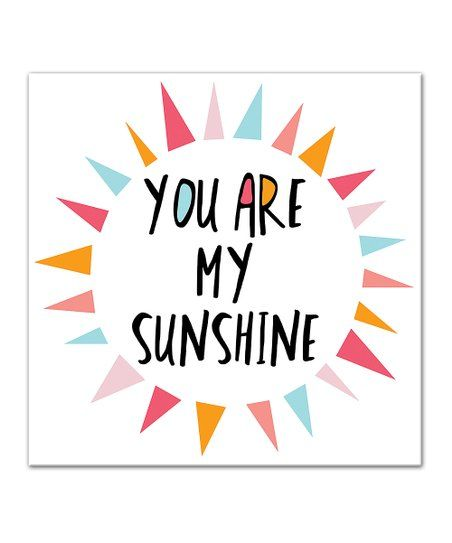 Designs Direct Creative Group You Are My Sunshine Wrapped Canvas Framed Canvas Art Heart Canvas Art Pink Canvas Art