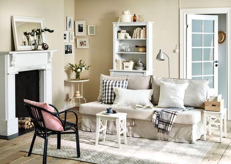 kleines wohnzimmer im landhausstil   bungalow haus bauen   Pinterest ...