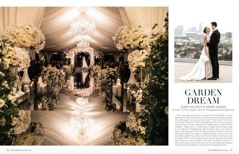 Floral Four Seasons Wedding Featured in Inside Weddings