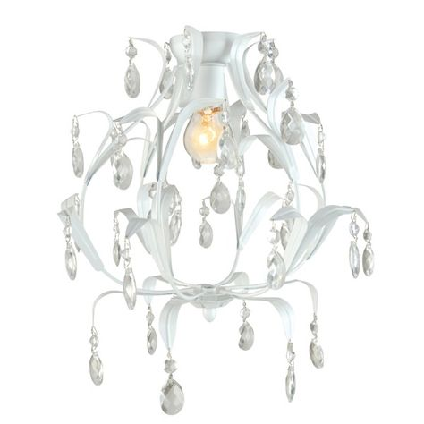 99 95 Geneve Diy Chandelier In White Www Beaconlighting