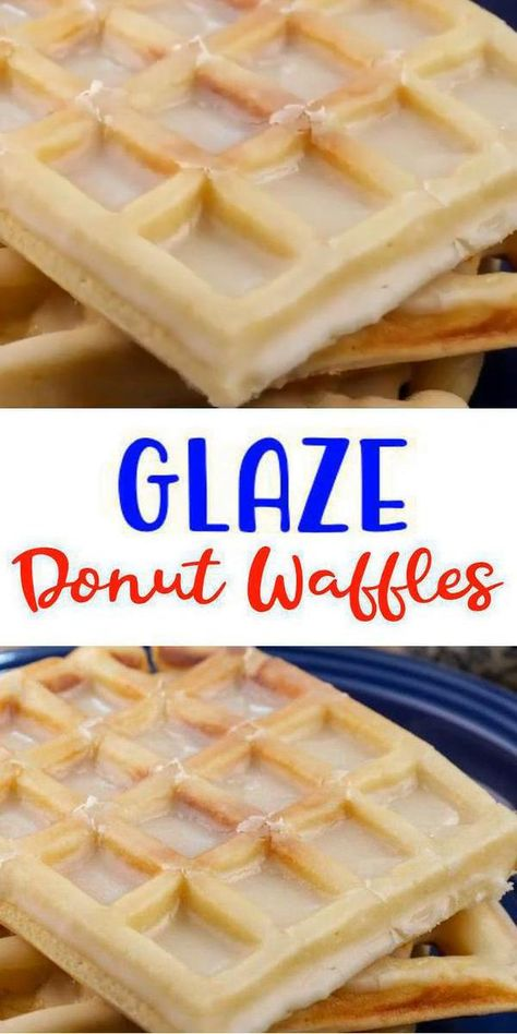Here is a quick easy homemade glaze donut waffle recipe. If u r looking for delicious, tasty glaze donut waffles then try this one out. Yummy waffle maker recipe w/ this doughnut recipe - great grab go breakfast, snacks, desserts or treat. W/ a few simple ingredients u can make amazing waffles w/ icing-frosting. No need to buy store bought frozen waffles. Great Mother's Day breakfast idea or brunch. BEST waffle iron idea. Use pantry food items fridge food. Glaze #donut #waffles. #easyrecipe