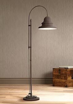 Industrial Gear Downbridge Dark Rust Floor Lamp | Lampe