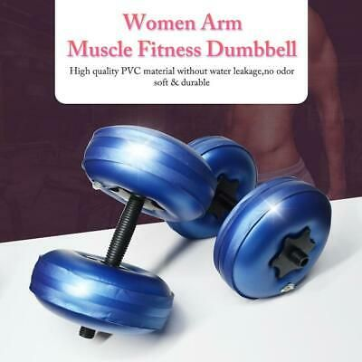 Ad Ebay Adjustable Water Filled Dumbbell Bodybuilding Gym Fitness Exercise Equipment With Images Muscle Training No Equipment Workout Arm Workout