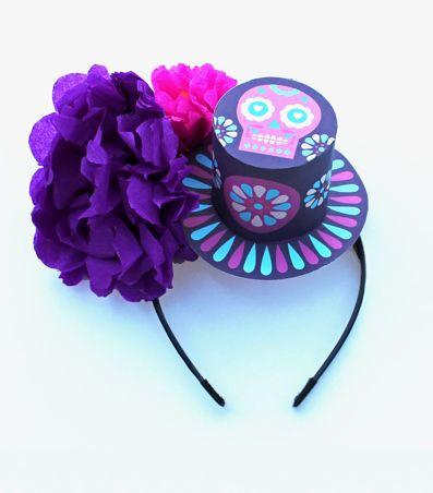 How To Make A Paper Flower Headpiece Making Day Of The Dead