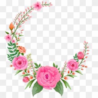Roses Rose Pinkroses Pink Flowers Flower Floral Circle Floral Frame Pink Png Transparent Png Flower Frame Flower Frame Png Flower Border Png