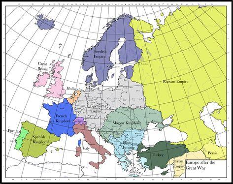 Europe After The Great War By Ankhvh Geschichte Deutschlands