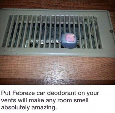Dorm Room Hacks and College Tips - Smart House - Ideas of Smart House - Dorm Room Hacks and Tips Use Febreze Car Clips and add to Air Vents to Help Freshen the Room. More College Tips on Frugal Coupon Living.