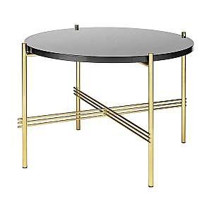 Gubi Table Basse Ronde Structure Laiton Ts O 55 X 41 Cm Noir Graphite Verre Et Metal En 2020 Table Basse Ronde Table Basse Et Table Basse En Laiton